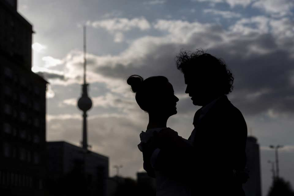 After Wedding Shooting – Television Tower Berlin